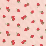 Hello Darling 55114-17 Coral Strawberries by Bonnie & Camille for Moda