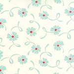 Hello Darling 55116-22 Cream Aqua Ribbon by Bonnie & Camille for Moda