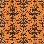 Chillingsworth 7446-O Orange Damask by Andover