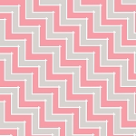 Sweet Harmony 9599-92 Gray Pink Chevron by Henry Glass EOB