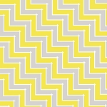 Sweet Harmony 9599-94 Gray Yellow Chevron by Henry Glass