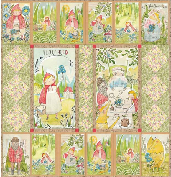 Little Red Fairy Tale Quilt Kit - Cori Dantini - Blend : fairy tale quilt patterns - Adamdwight.com