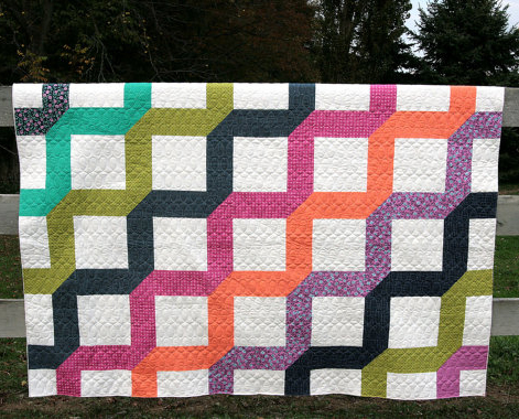 Make it modern quilt pattern coriander quilts for Modern house quilts