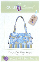 Mini Bow Tucks Tote Pattern by Quilts Illustrated