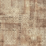 Wallflower PWTH033.8 Ledger by Tim Holtz for Coats EOB