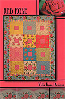 Red Rose Quilt Pattern/Card by Villa Rosa Designs