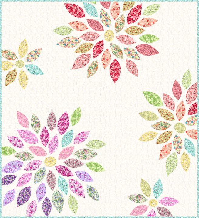 Applique Flower Quilt Kit In The Beginning