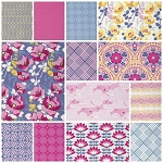 Atrium 13 Fat Quarter Set in Fuchsia by Joel Dewberry for Free Spirit