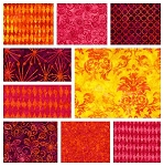 Batiks 9 Fat Quarter Set by Michael Miller