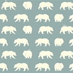 Bear Camp Organic BC-01 Mineral Bear Hike by Birch Fabrics