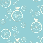 Mod Basics Organic MB-03 Pool Birdie Spokes by Birch Fabrics