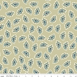 Vintage Verona C3602 Tan Paisley by Emily Taylor for Riley Blake
