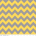 Chevron Medium C380-11 Yellow Gray by Riley Blake EOB