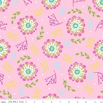 Floriography C3943 Pink Floral by Pink Fig for Riley Blake