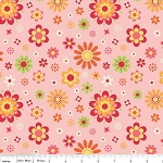 Just Dreamy 2 C4131 Pink Floral by My Mind's Eye for Riley Blake