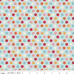 Just Dreamy 2 C4134 Blue Dots by My Mind's Eye for Riley Blake