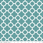 Quatrefoil C435-26 Teal by Riley Blake