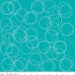 Four Corners C4873 Teal Circles by Simple Simon for Riley Blake