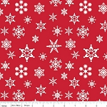Holiday Banners C566 Red Snowflakes by Riley Blake