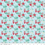 The Shabby Strawberry C6040 Blue Main by Emily Hayes for Penny Rose