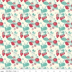 The Shabby Strawberry C6040 Cream Main by Emily Hayes for Penny Rose