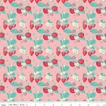 The Shabby Strawberry C6040 Pink Main by Emily Hayes for Penny Rose