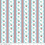 The Shabby Strawberry C6041 Blue Stripe by Emily Hayes for Penny Rose