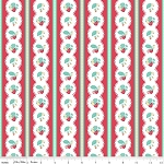 The Shabby Strawberry C6041 Red Stripe by Emily Hayes for Penny Rose