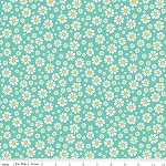 The Shabby Strawberry C6043 Teal Daisy by Emily Hayes for Penny Rose