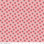 The Shabby Strawberry C6044 Pink Berry by Emily Hayes for Penny Rose