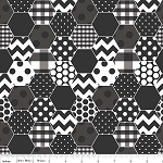 Hexi Print C770-110 Black by Riley Blake
