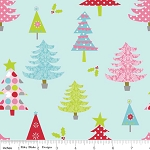 Christmas Basics C900-03 Blue Trees by Riley Blake
