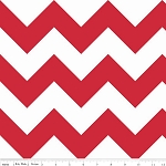 Chevron Large C330-80 Red by Riley Blake EOB