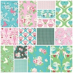Chloe 15 Fat Quarter Set by Tanya Whelan for Free Spirit