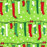 Stuff the Stockings CX6628 Garland by Michael Miller
