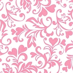 Swirly Hearts CX6707 Pink by Michael Miller