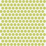 Mod Basics Organic MB-01 Grass on Cream Dottie by Birch EOB