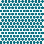 Mod Basics Organic MB-01 Teal on Cream Dottie by Birch Fabrics EOB