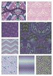 Eden 8 Fat Quarter Set in Amethyst by Tula Pink for Free Spirit