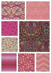 Eden 8 Fat Quarter Set in Tourmaline by Tula Pink for Free Spirit