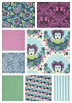 Elizabeth 8 Fat Quarter Set in Sky by Tula Pink for Free Spirit