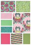 Elizabeth 9 Fat Quarter Set in Tart by Tula Pink for Free Spirit