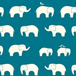 Mod Basics Organic MB-04 Teal Ellie Fam by Birch Fabrics