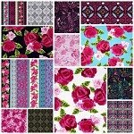English Rosey 13 Fat Quarter Set by Kanvas
