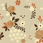Fort Firefly Organic TW-10 Taupe Rose Garden by Teagan White for Birch