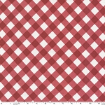 Bias Gingham Laminated Cotton LD5250 Red by Michael Miller EOB