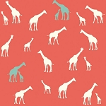 Serengeti Organic SG-11 Coral Giraffe Fam by Jay-Cyn for Birch