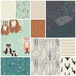 Hello, Bear 10 Fat Quarter Set in Timber by Art Gallery