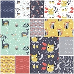 Hilltop 12 Fat Quarter Set by Wee Gallery for Dear Stella