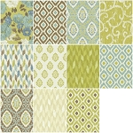 Ibiza 11 Fat Quarter Set by Rosemarie Lavin for Windham